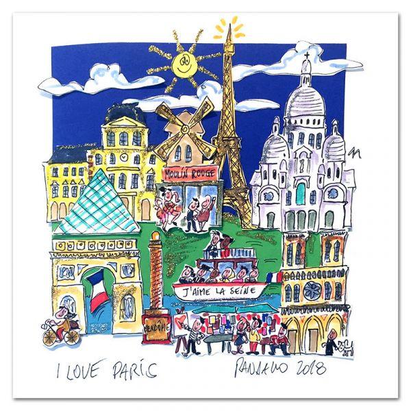 """3D-Grafik """"I Love Paris"""""""