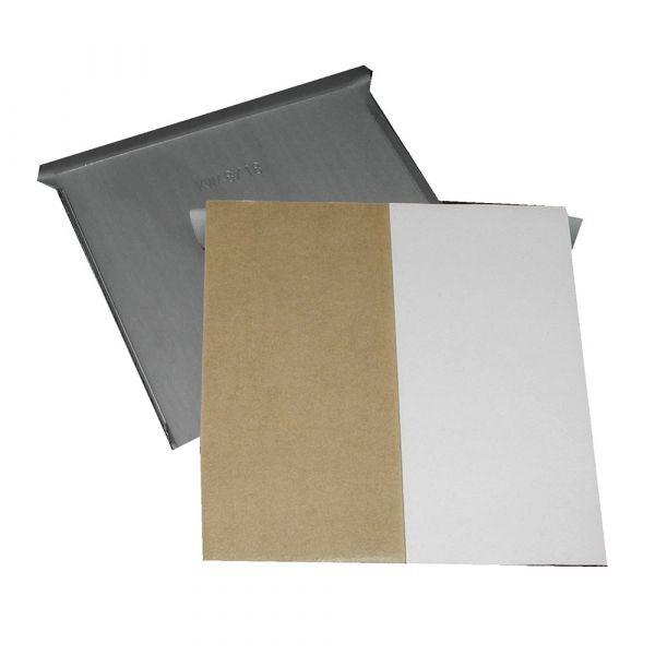 Spiegelblech 100 x 100 mm bis 6 kg, schnell haftend, gekantet