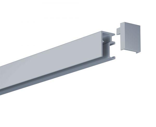 Galerieschiene Newly R10 - KOMPAKT in Silber