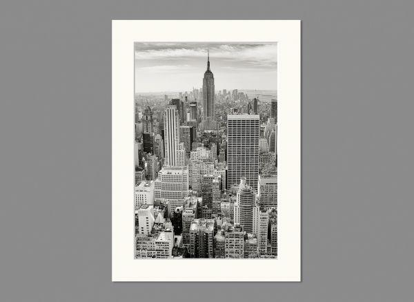 Passepartout, Außen 13x18 cm | Innen 10x15 cm, Weiß