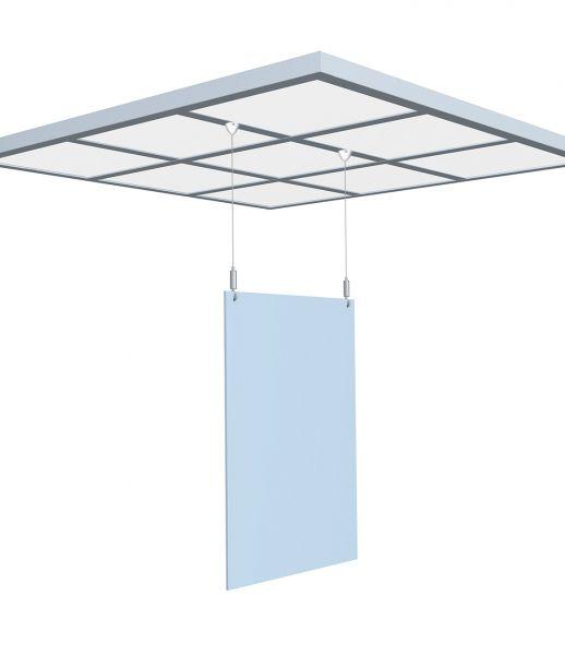 Plattenaufhänge-Set, magnetisch für Systemdecken mit Plattenhaken