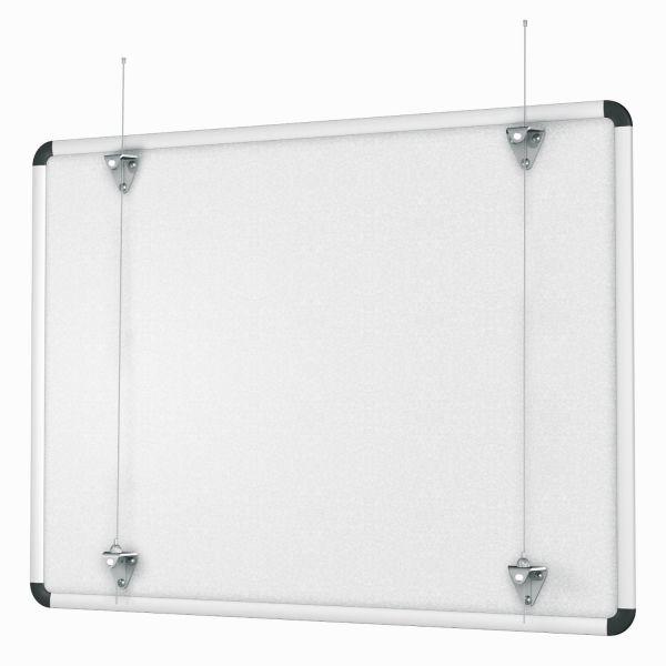 Whiteboard Aufhängeset für Galerieschienen Rückwand 1