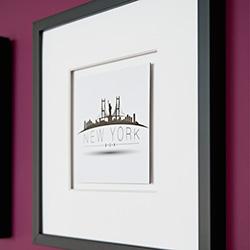 holz bilderrahmen mit passepartout. Black Bedroom Furniture Sets. Home Design Ideas