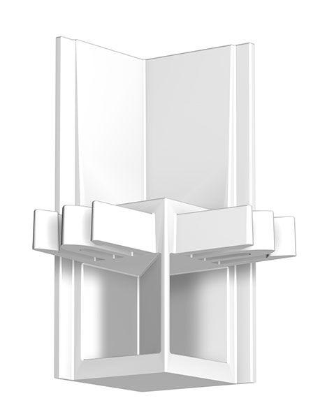 Eckverbinder Galerieschiene Newly R30 PROFESSIONELL in Weiß