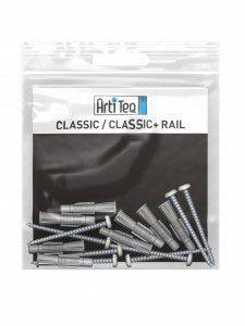 Artiteq - Set Befestigungsmaterial Classic Rails/Classic Rail+ weiß 200 cm
