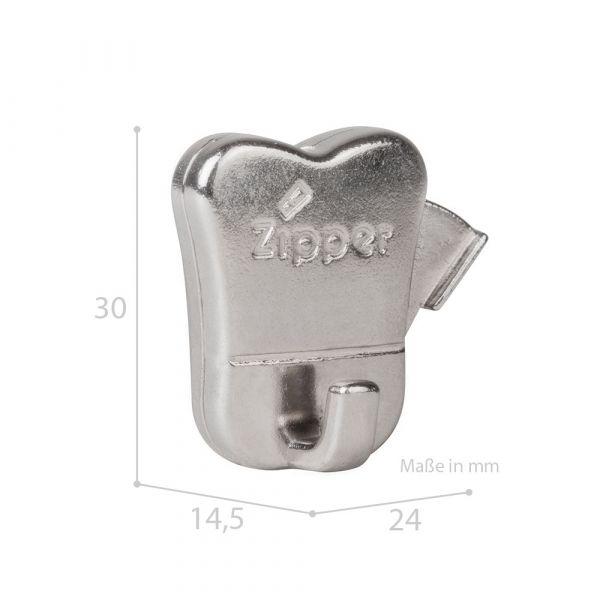 Bilderhaken Zipper mit Druckknopf