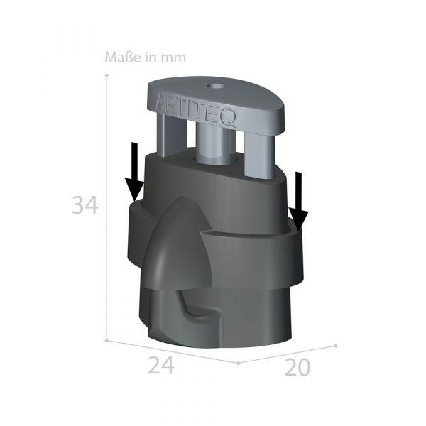 Bilderhaken Micro Grip + LOCK 20 kg für Bilderschienen-Seile