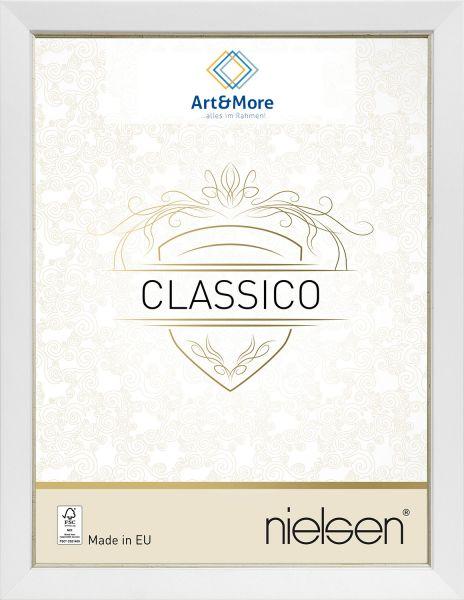 Holz Fotorahmen Nielsen Classico in Weiß/Silber