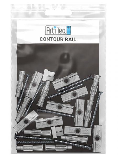 Artiteq - Montagesatz Contour Rail 200 cm weiß