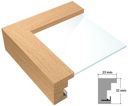 bilderrahmen holz buche natur von roggenkamp. Black Bedroom Furniture Sets. Home Design Ideas