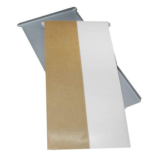 Spiegelblech 100 x 200 mm bis 12 kg, schnell haftend, gekantet