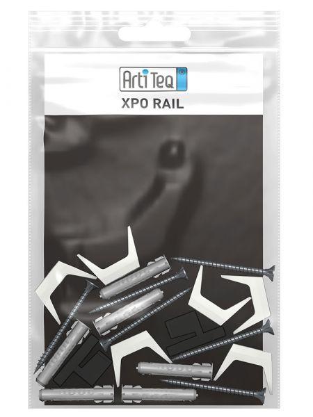 Artiteq - Set Befestigungsmaterial Xpo Rail schwarz