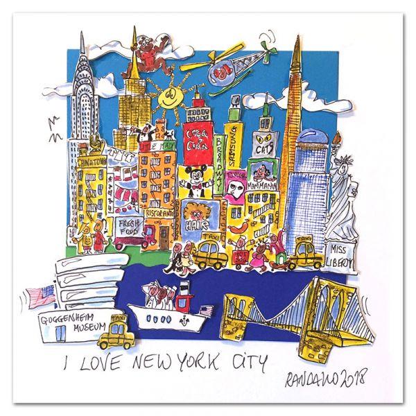"3D-Grafik ""I Love New York City"""