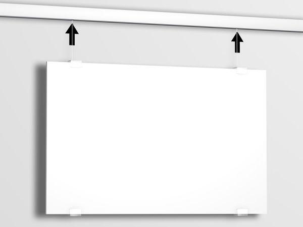 Plattenaufhänger für Bilderschienen