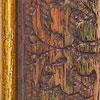 Braun verziert mit Goldkante