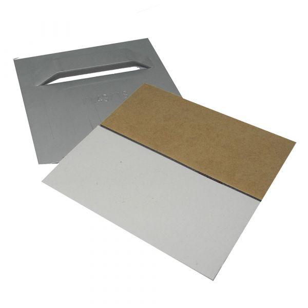 Spiegelblech bis 6 kg, 100 x 100 mm, schnell haftend, selbstklebend