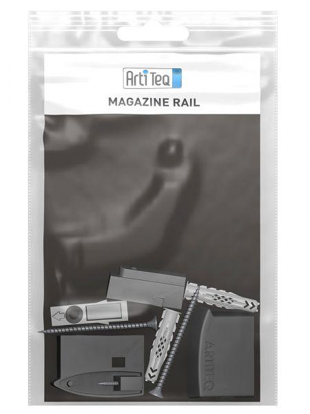 Magazine Rail Endkappen mit Wandclip Set (R&L) // schwarz