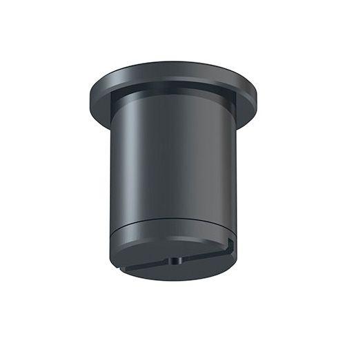 Deckenhalter für 1,2 mm Stahlseil mit Gleiter in Schwarz