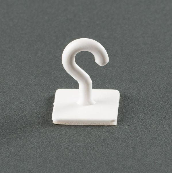 Universal Klebehaken aus weißem Kunsstoff, einzeln