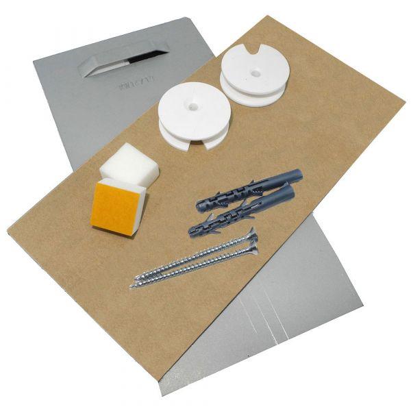 Spiegelbefestigung E2 bis 1,6 m², 24 kg Standard-Set