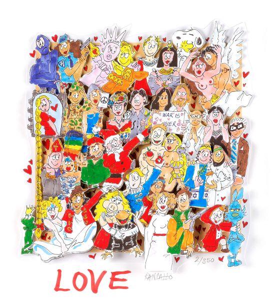 "Paolo Randazzo ""LOVE"" XL Sonderedition ungerahmt"