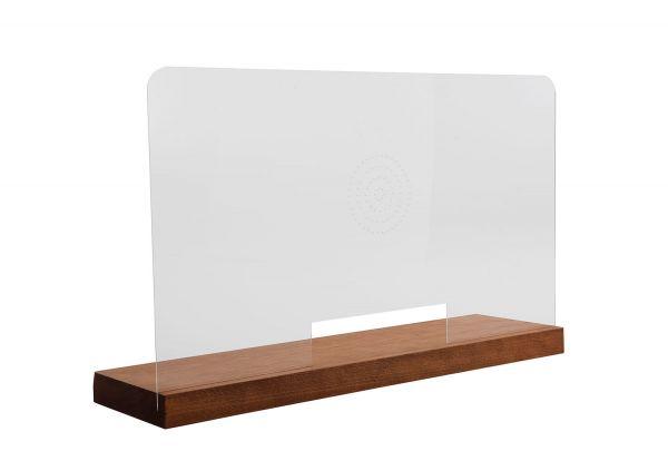 Mobile Hygienewand mit Holzsockel