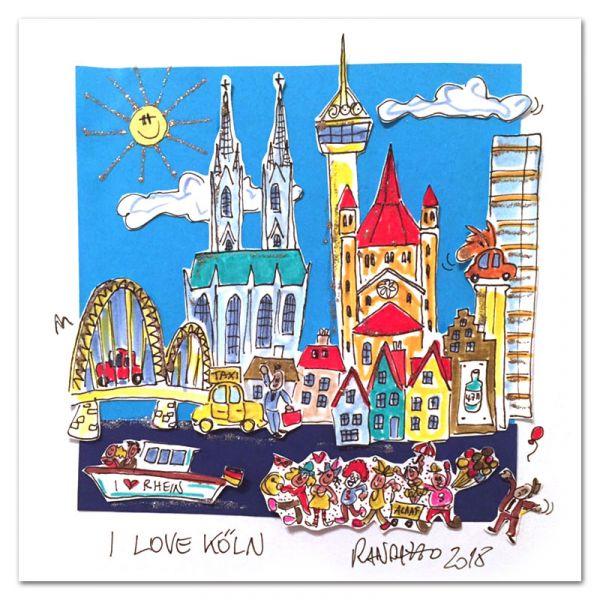 "3D-Grafik ""I Love Köln"""