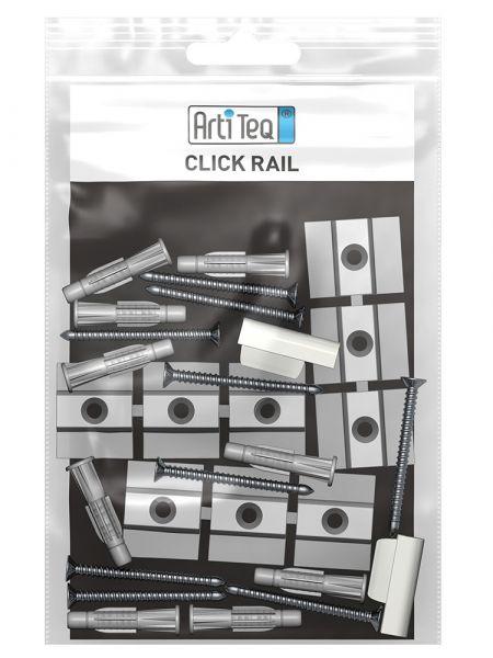 Artiteq - Set Befestigungsmaterial Click Rail grau 200 cm