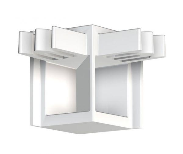 Eckverbinder Galerieschiene Newly R10 KOMPAKT in Weiß