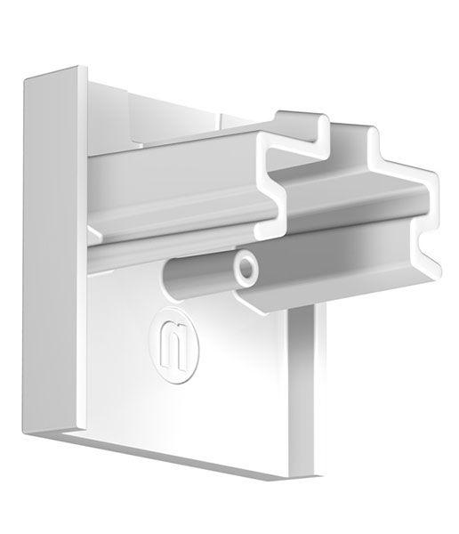 Endkappe für Newly Deckenschiene R40 UP in Weiß
