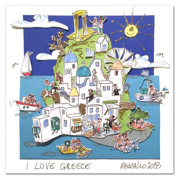 """3D-Grafik """"I Love Griechenland"""""""