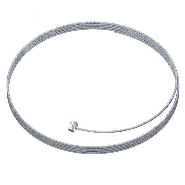Stahlseil mit Gleiter in Silber