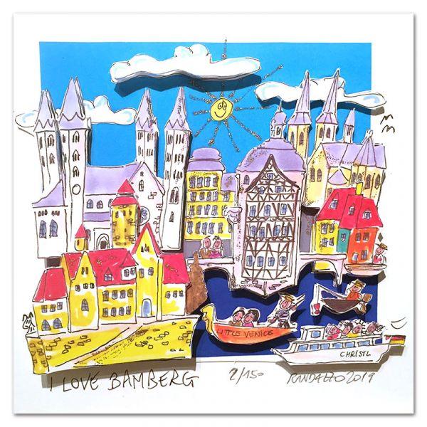 """3D-Grafik """"I Love Bamberg"""""""