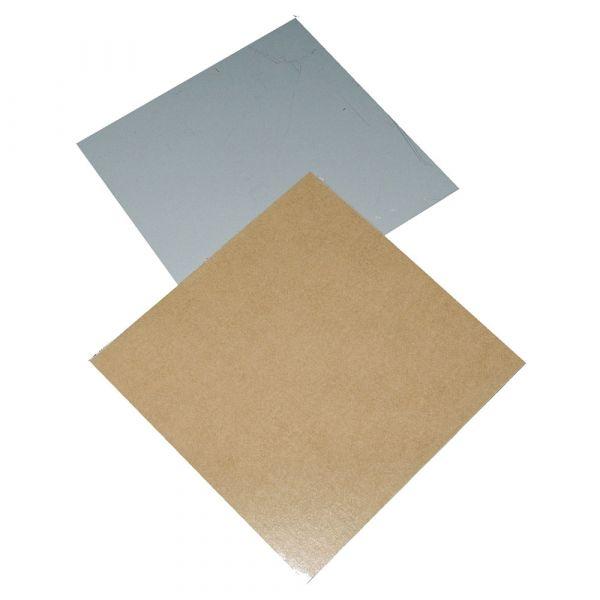 Spiegelblech 70 x 70 mm bis 3 kg, selbstklebend ohne Öse