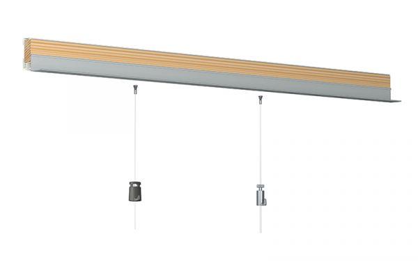 Wandanschlußleiste mit Bildaufhänger-Schiene für Systemdecken, Weiß