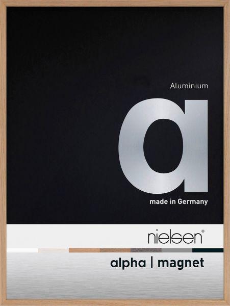 Nielsen Alpha Magnet Echtholzfurnier Alu-Bilderrahmen