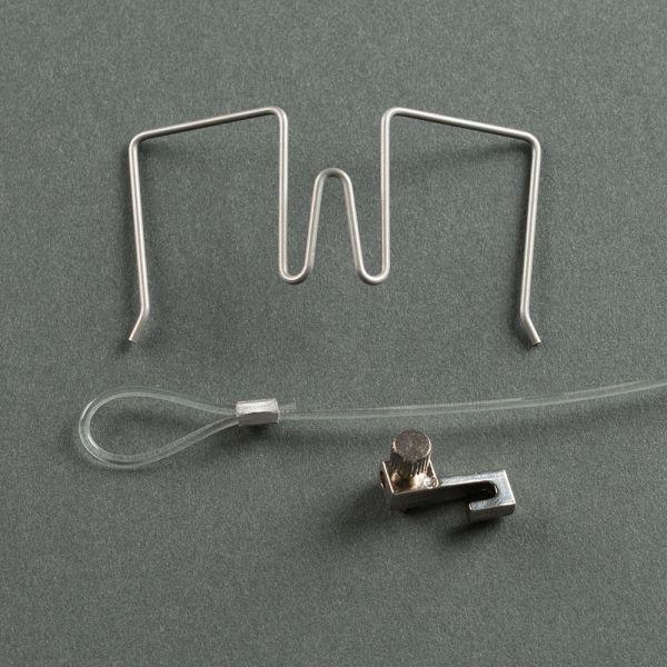 Stellwandhaken Flex Set silber, 11-30 mm