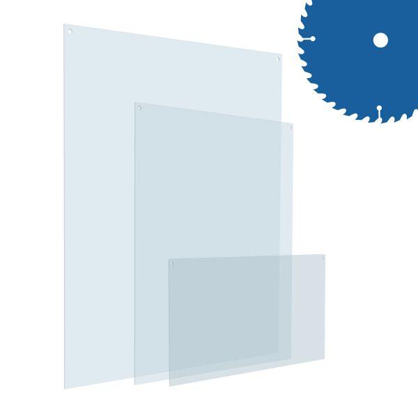 Plexiglas Zuschnitt mit Lochbohrungen