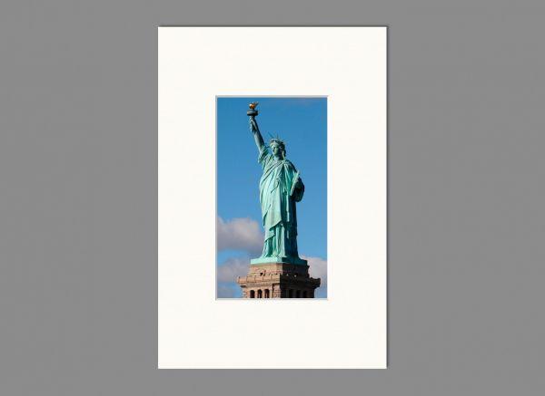 Passepartout, Außen 10x15 cm | Innen 5x9 cm, Weiß