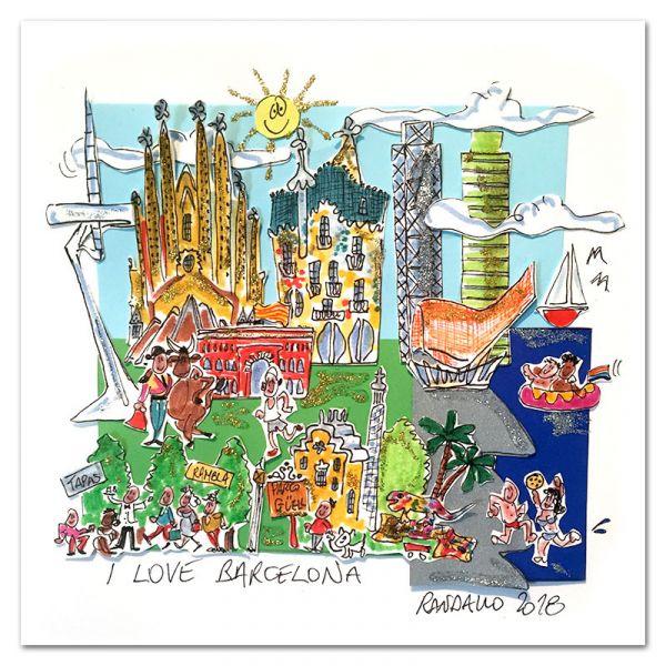 "3D-Grafik ""I Love Barcelona"""