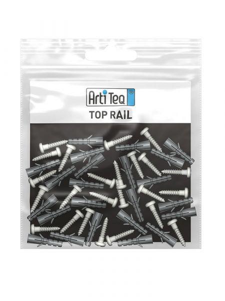 Artiteq - Set Befestigungsmaterial Top Rail schwarz 200 cm