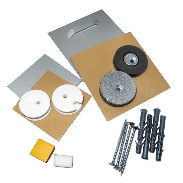 Spiegelbefestigung Profi Standard-Set 12 kg mit Magnetfixierung