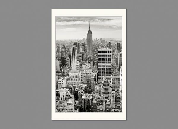 Passepartout, Außen 10x15 cm | Innen 9x13 cm, Weiß