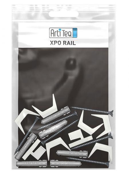 Artiteq - Set Befestigungsmaterial Xpo Rail weiß 200 cm
