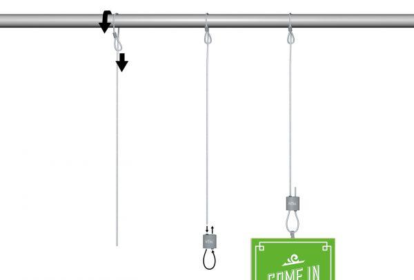 Universal Schlaufenaufhänger-Set, Anwendung
