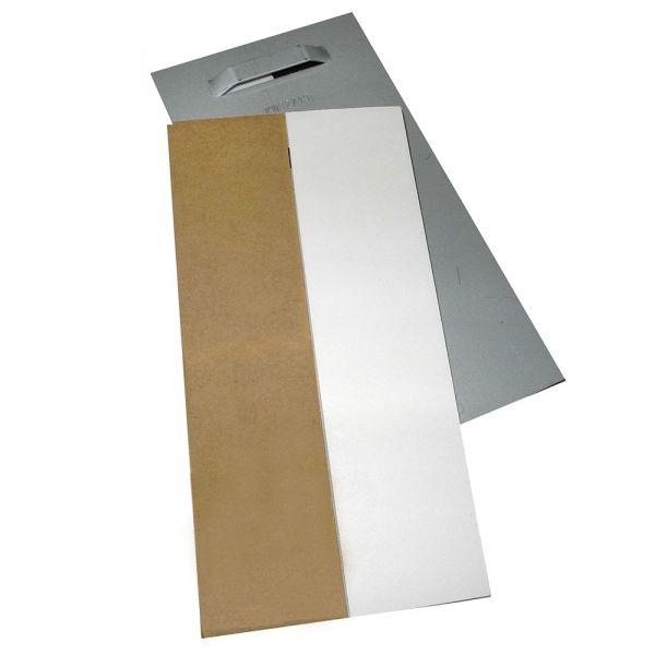 Spiegelblech bis 12 kg, 100 x 200 mm, schnell haftend, selbstklebend