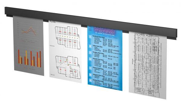 Artiteq - Info Rail schwarz strukturiert 100 cm