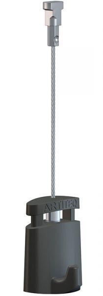 Artiteq - Aufhänge-Set Twister 1 mm Stahl 150 cm mit Micro Grip 1 mm 10 kg