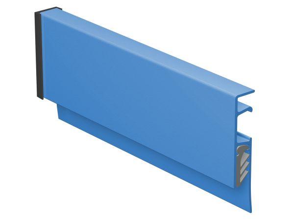 Klemmschiene Info-Rail blau (Strukturlack)