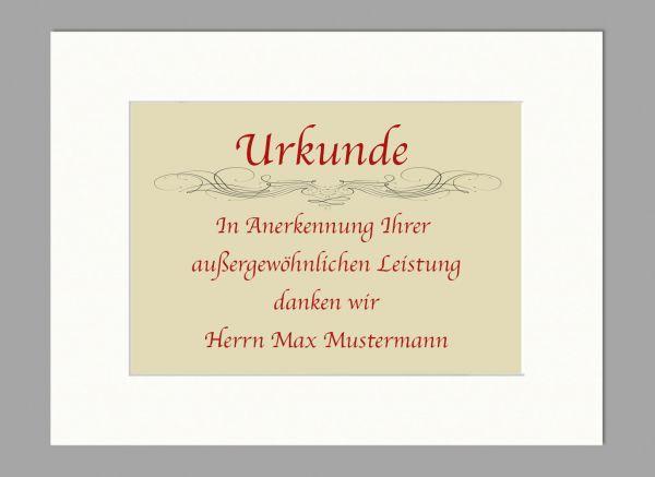 Dickes Urkunden-Passepartout weiß, 30x40 cm | Bildgröße DIN A4 | 4 mm Stärke